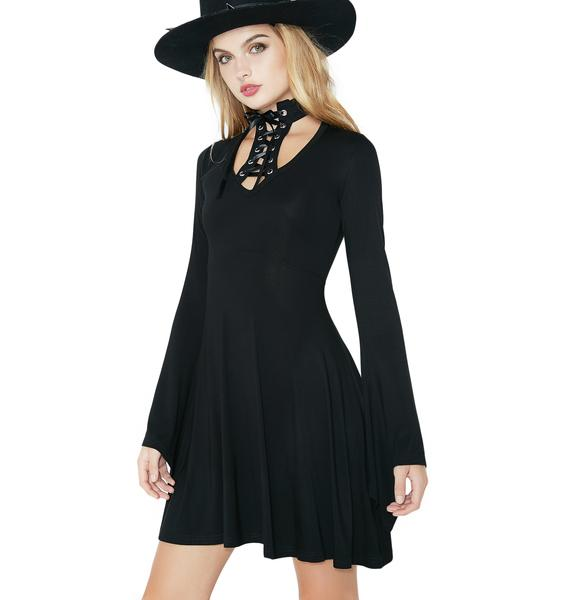 Killstar Spyda Lace-Me-Up Dress