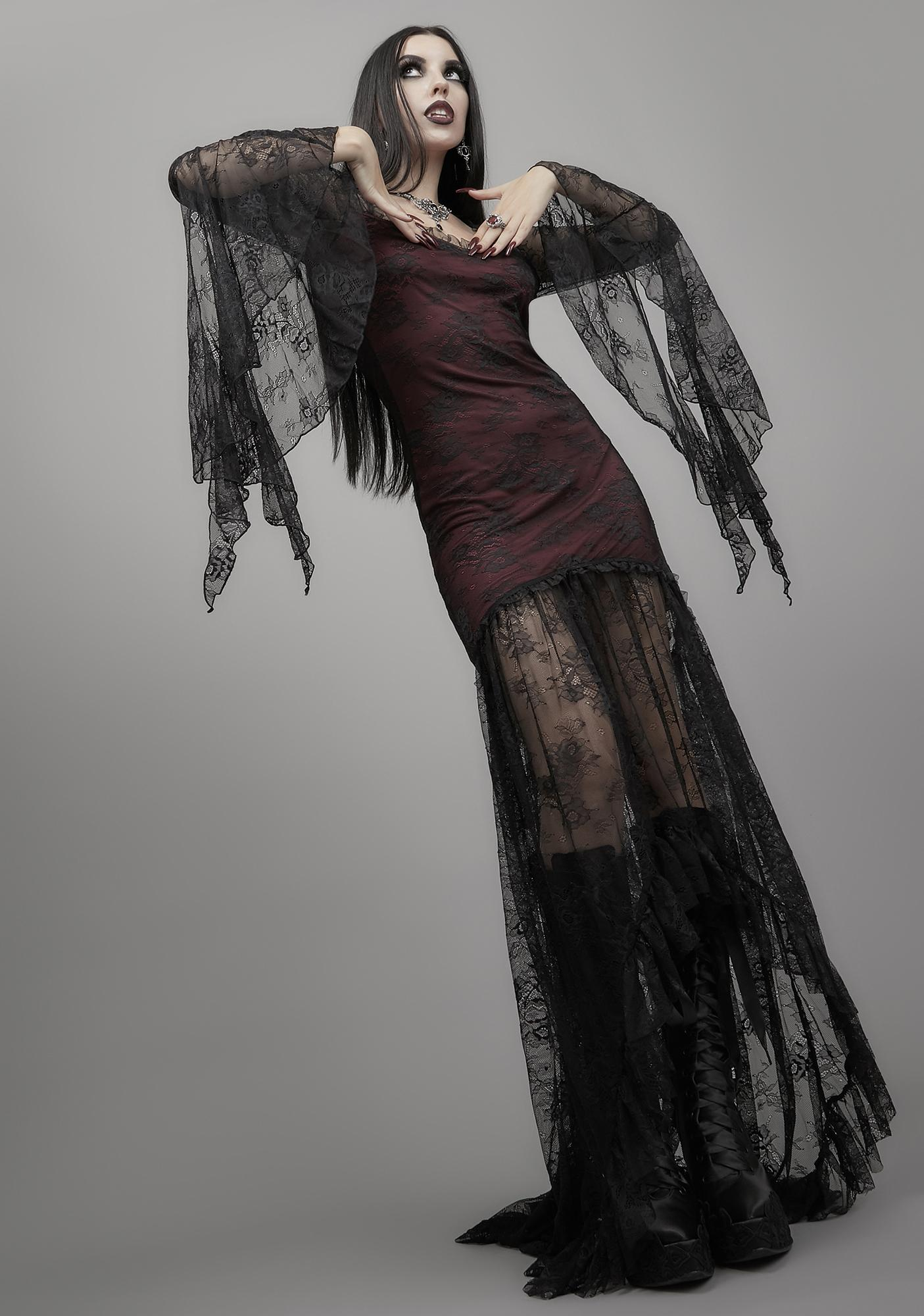 Widow Heavy In Your Arms Maxi Dress