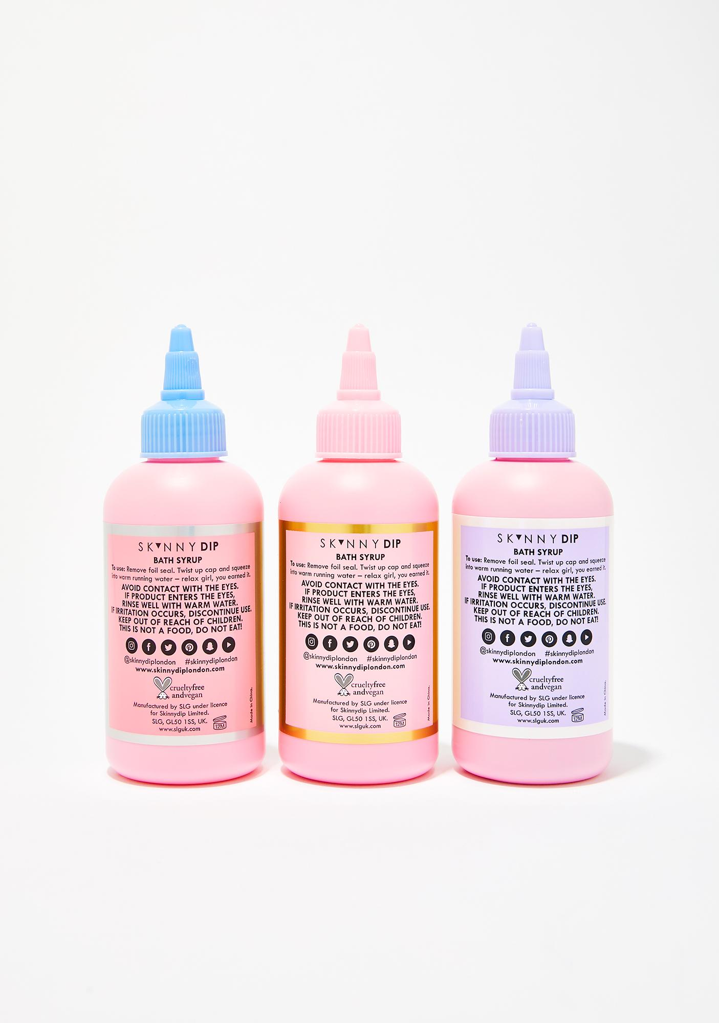 Skinnydip The Big Squeeze Bath Syrup Trio