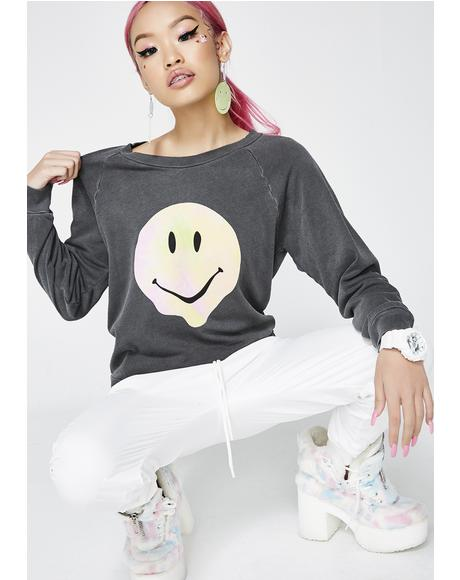 Psychedelic Smiley Sweatshirt