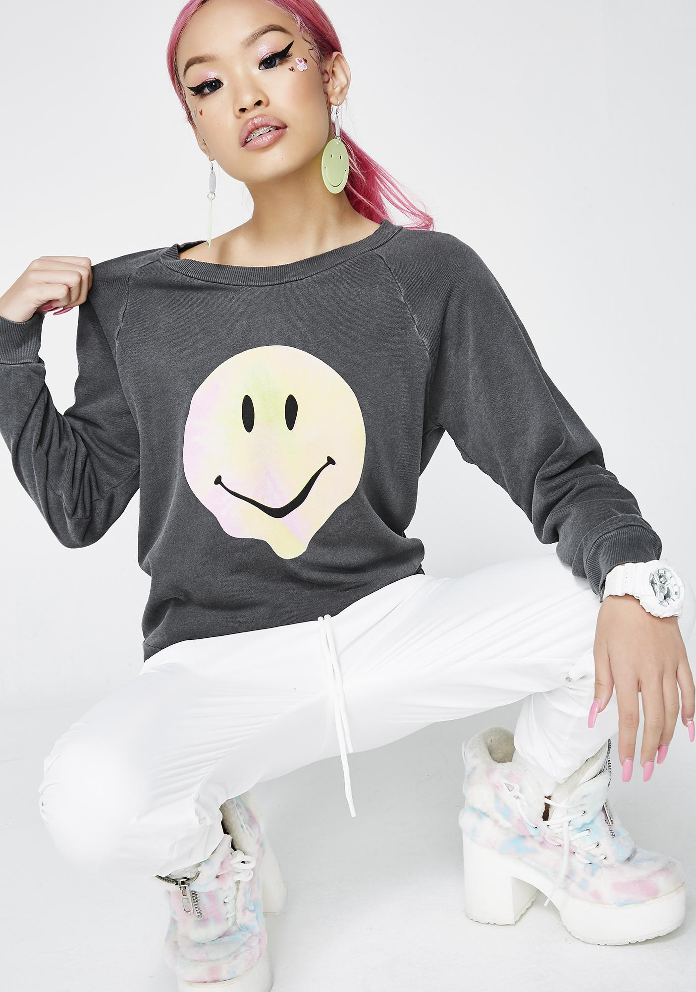 Wildfox Couture Psychedelic Smiley Sweatshirt