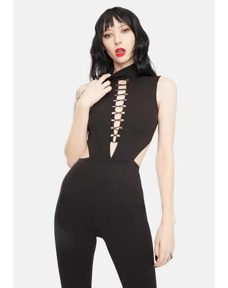 Cutthroat Queen Lace-Up Jumpsuit