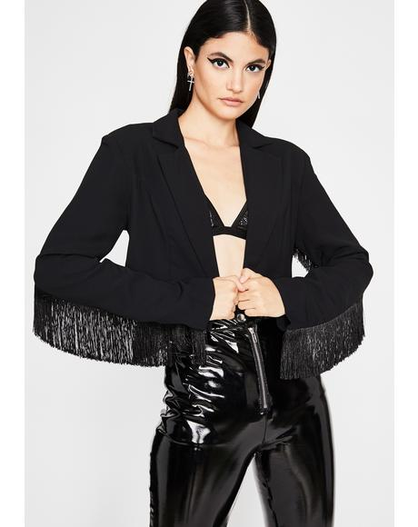 Fringe Benefits Cropped Jacket