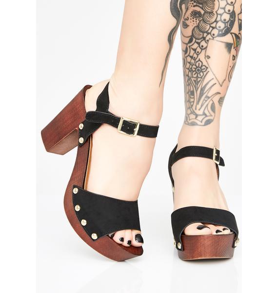 Dark Valley Of The Dolls Platform Sandals