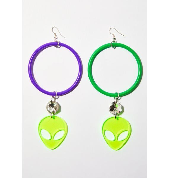 Trixy Starr Alien Grunge Earrings