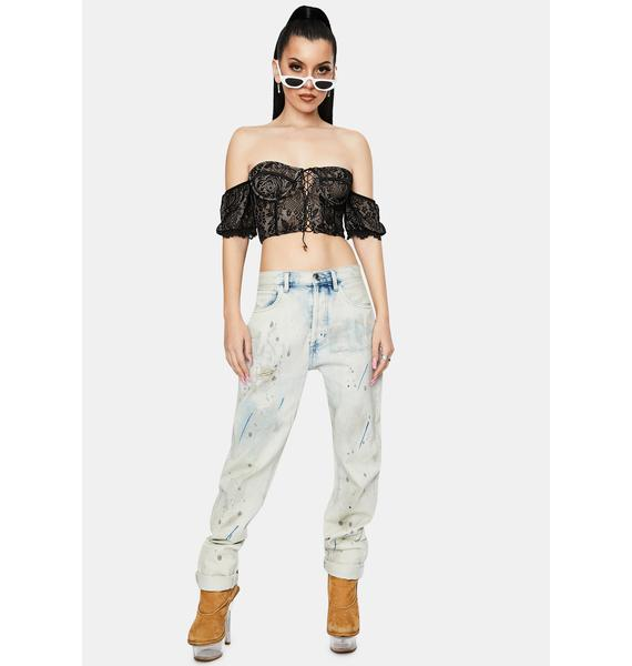 Sassy Chic Lace Corset Top