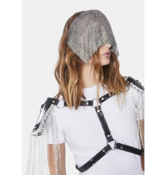 Chilling Blocked Rhinestone Headband