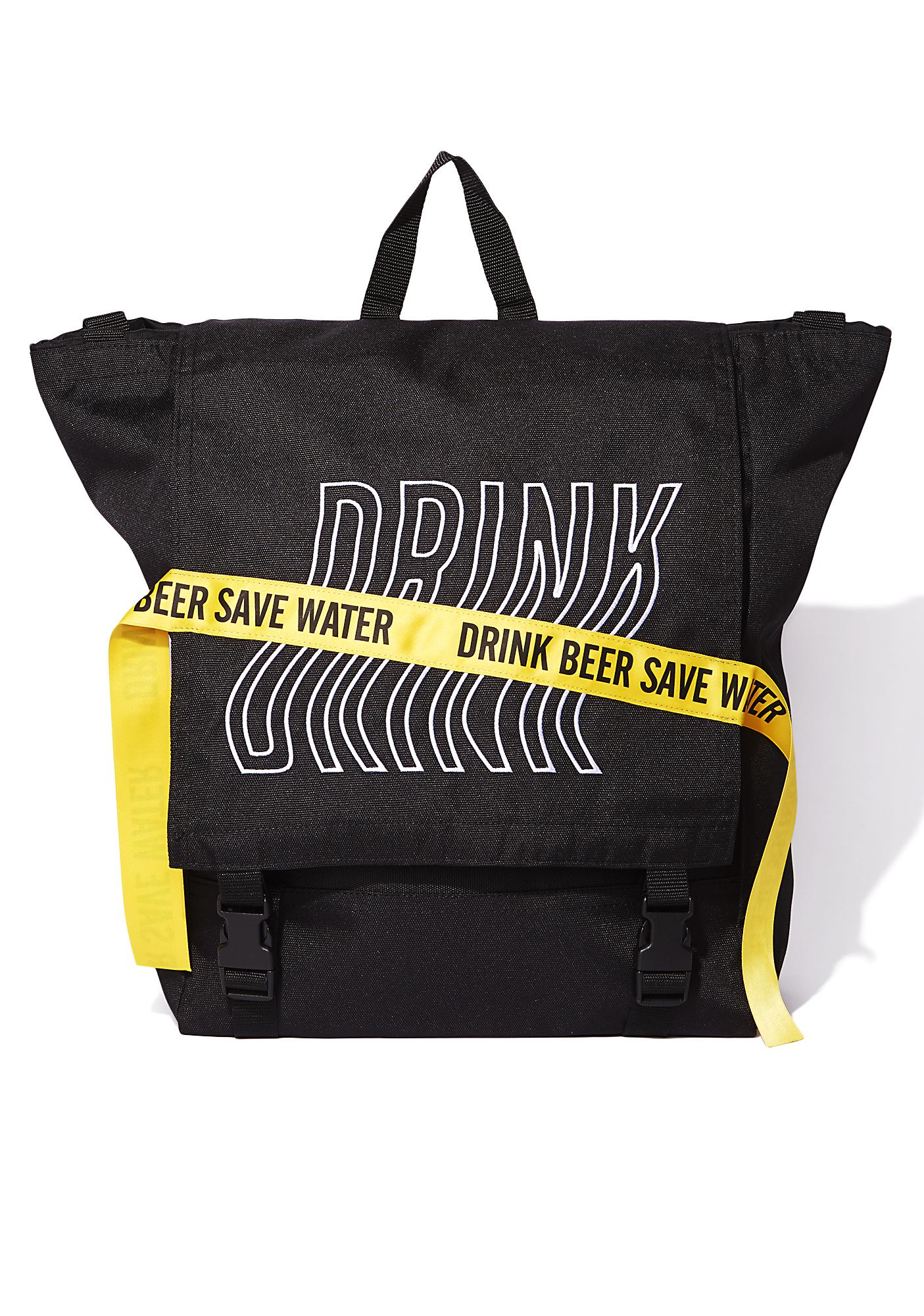 Drink Beer Save Water Tritone Banded Backpack