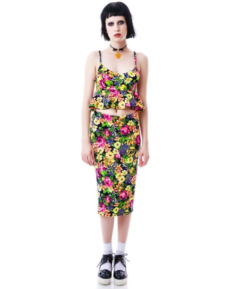 Bring Me Flowers Pencil Skirt