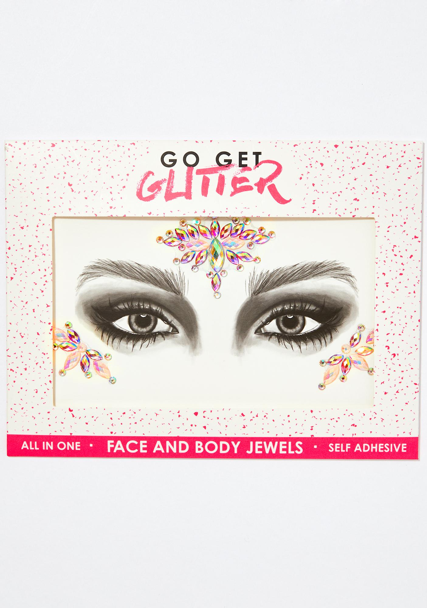 Go Get Glitter Pink Lemonade Face Jewels