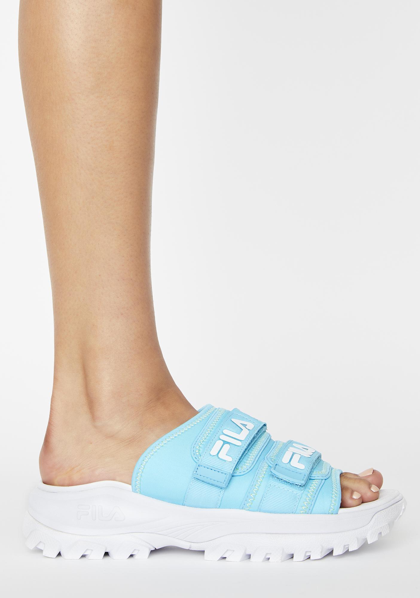 Fila Blue Outdoor Slides