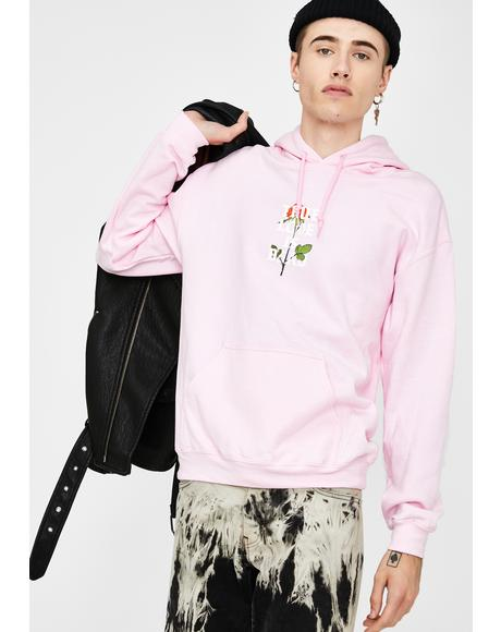 True Love Is Dead Pink Graphic Hoodie