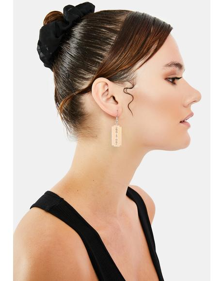 Deadly Blow Drop Earrings