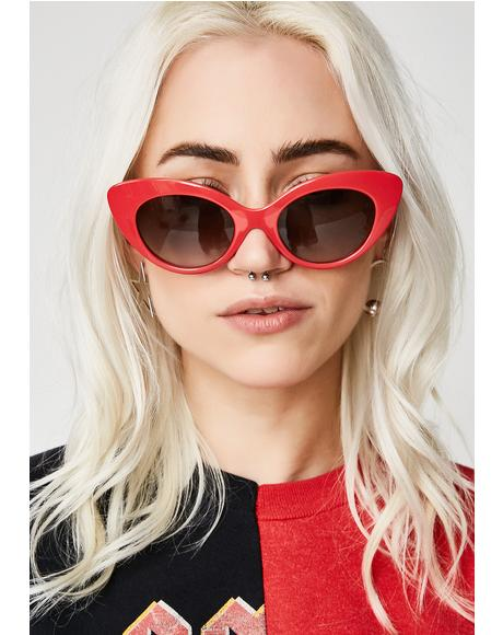 The Wild Gift Gloss Cherry Red Sunglasses