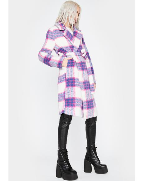 Favored By Society Plaid Coat