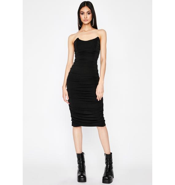 Lux Finesse Midi Dress