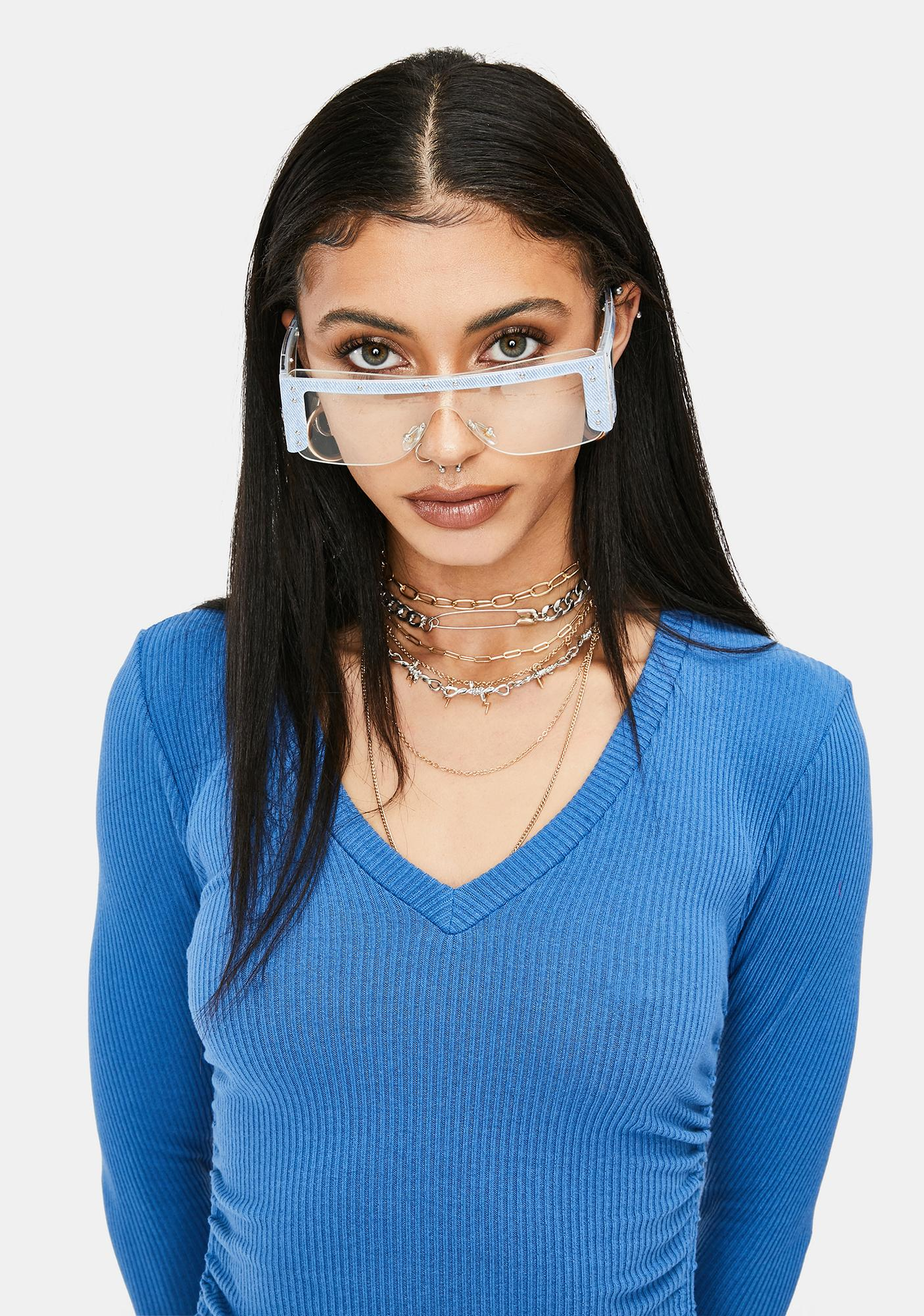 Azure Dynamite Bright Shield Sunglasses