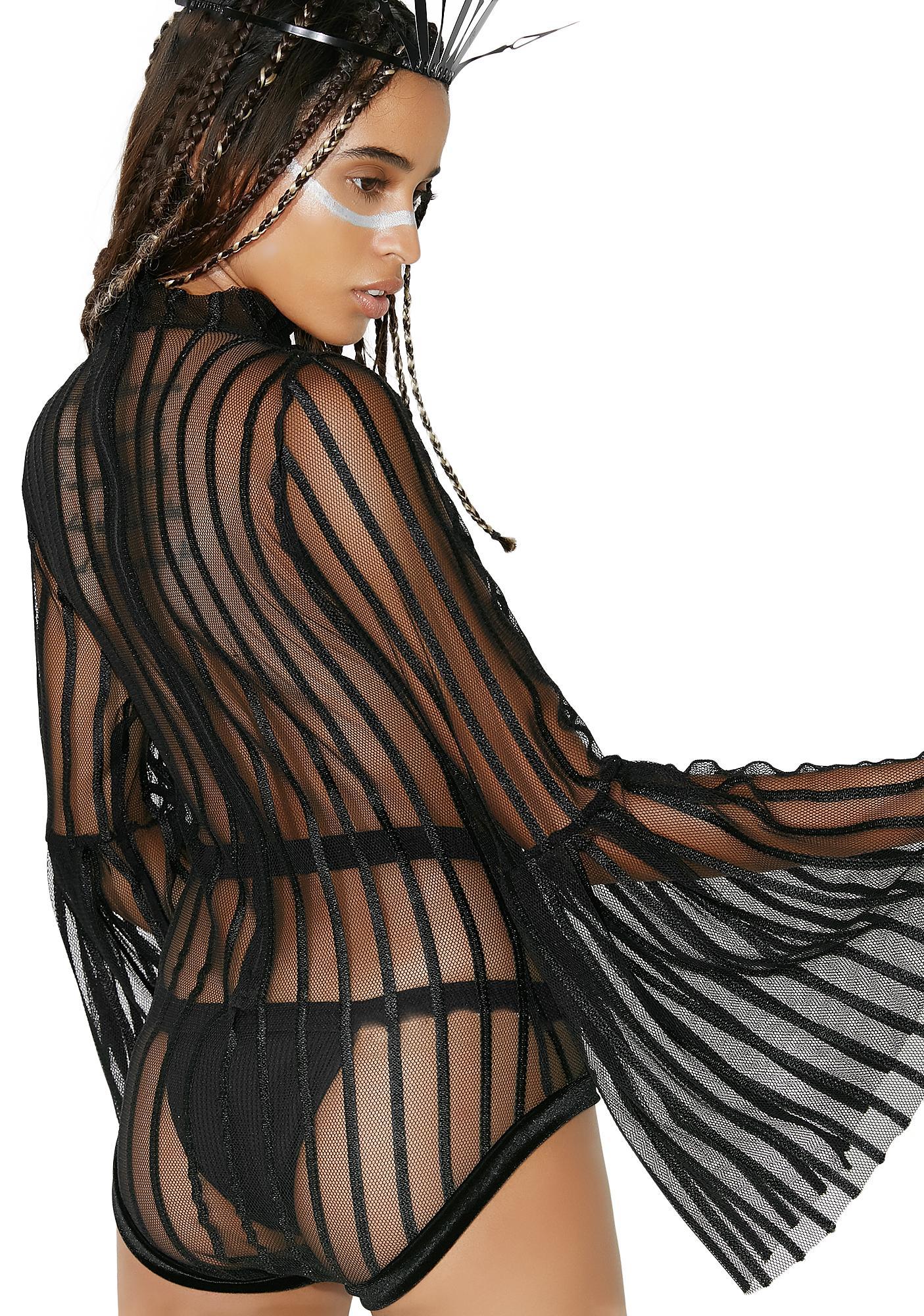 LUX MUSE Striped Villain Bodysuit