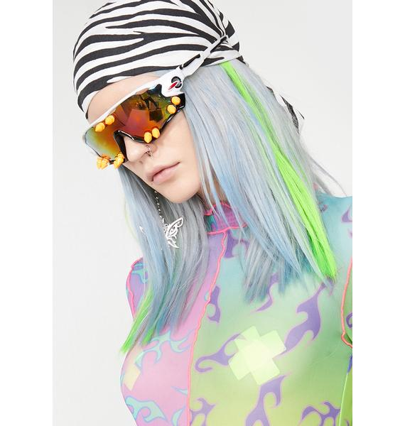 SHRINE Neon Green Clip-In Hair Extensions