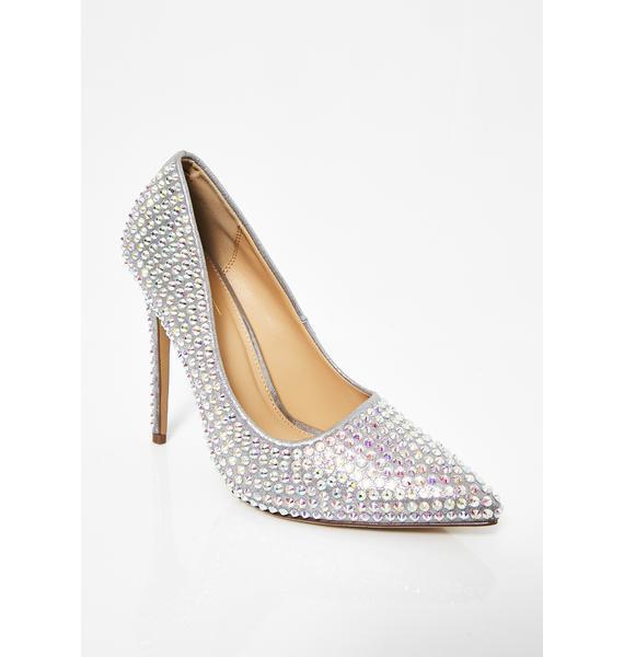Platinum Supreme Bling Queen Heels