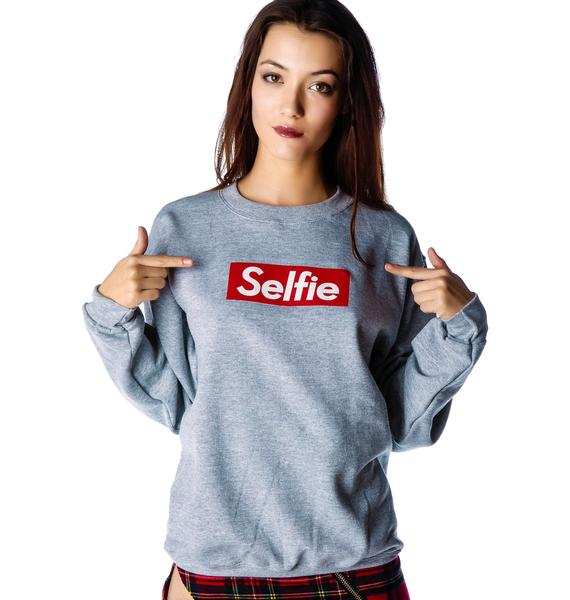 Petals and Peacocks Selfie Sweatshirt