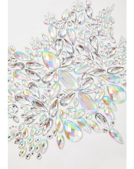 Silver Crystal Body Jewel