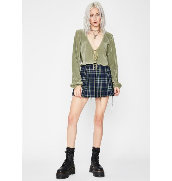Class Act Pleated Top