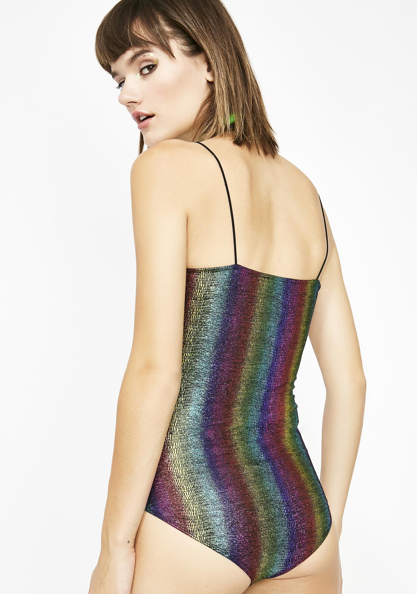 Color Waves Metallic Bodysuit