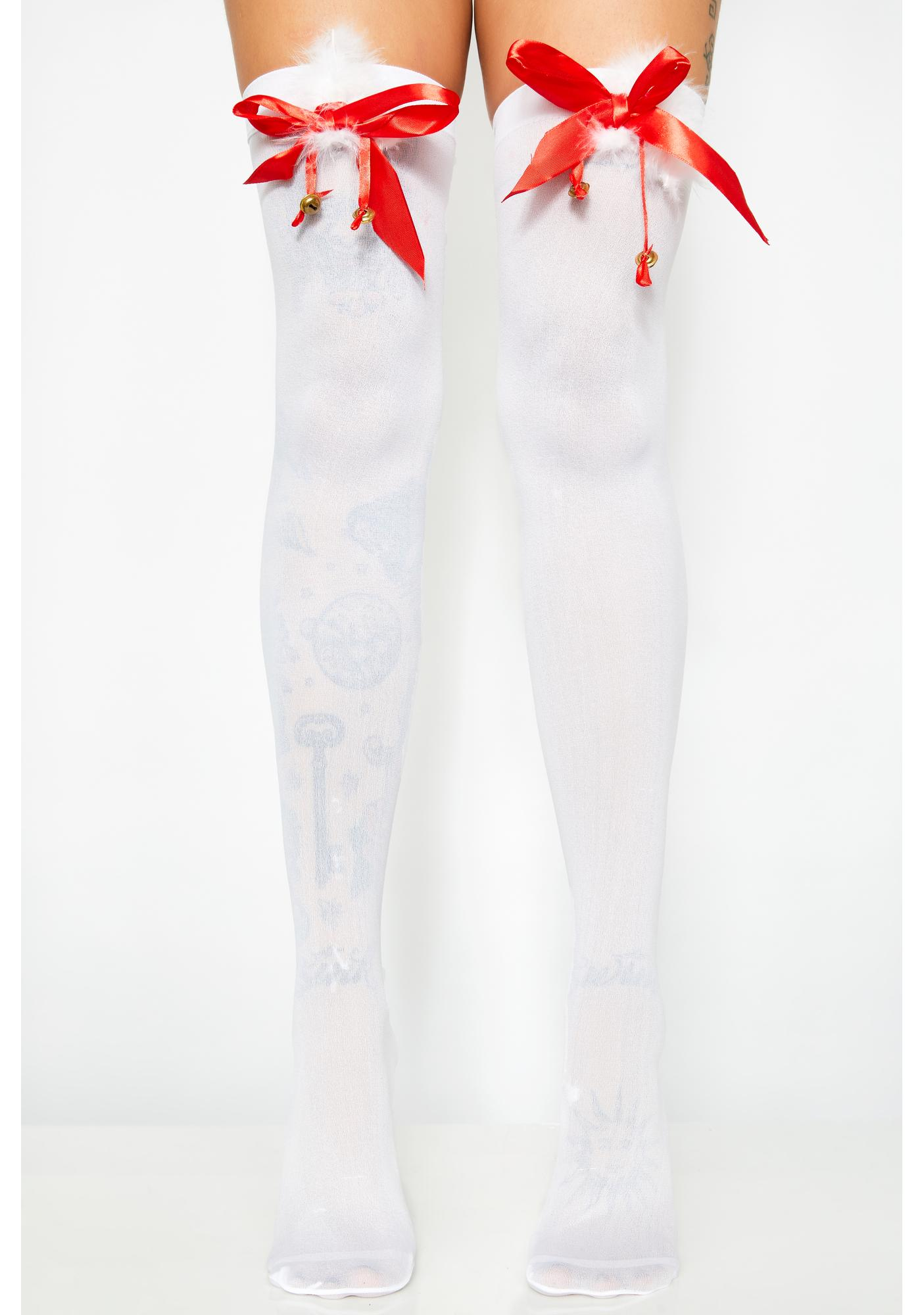 Icy Jolly Jingle Thigh Highs