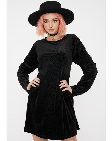 Celeste Velour Mini Dress
