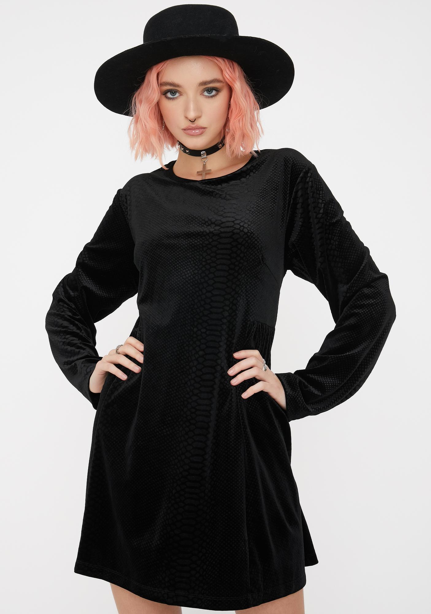 Disturbia Celeste Velour Mini Dress