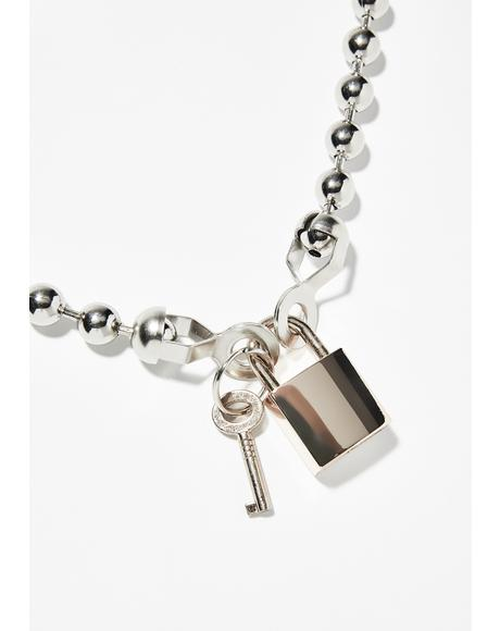 Ball N' Lock Chain Necklace