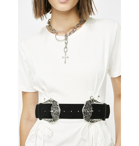 On The Throne Double Buckle Belt