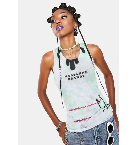 Marsanne Brands Long Barbed Wire Tank Top