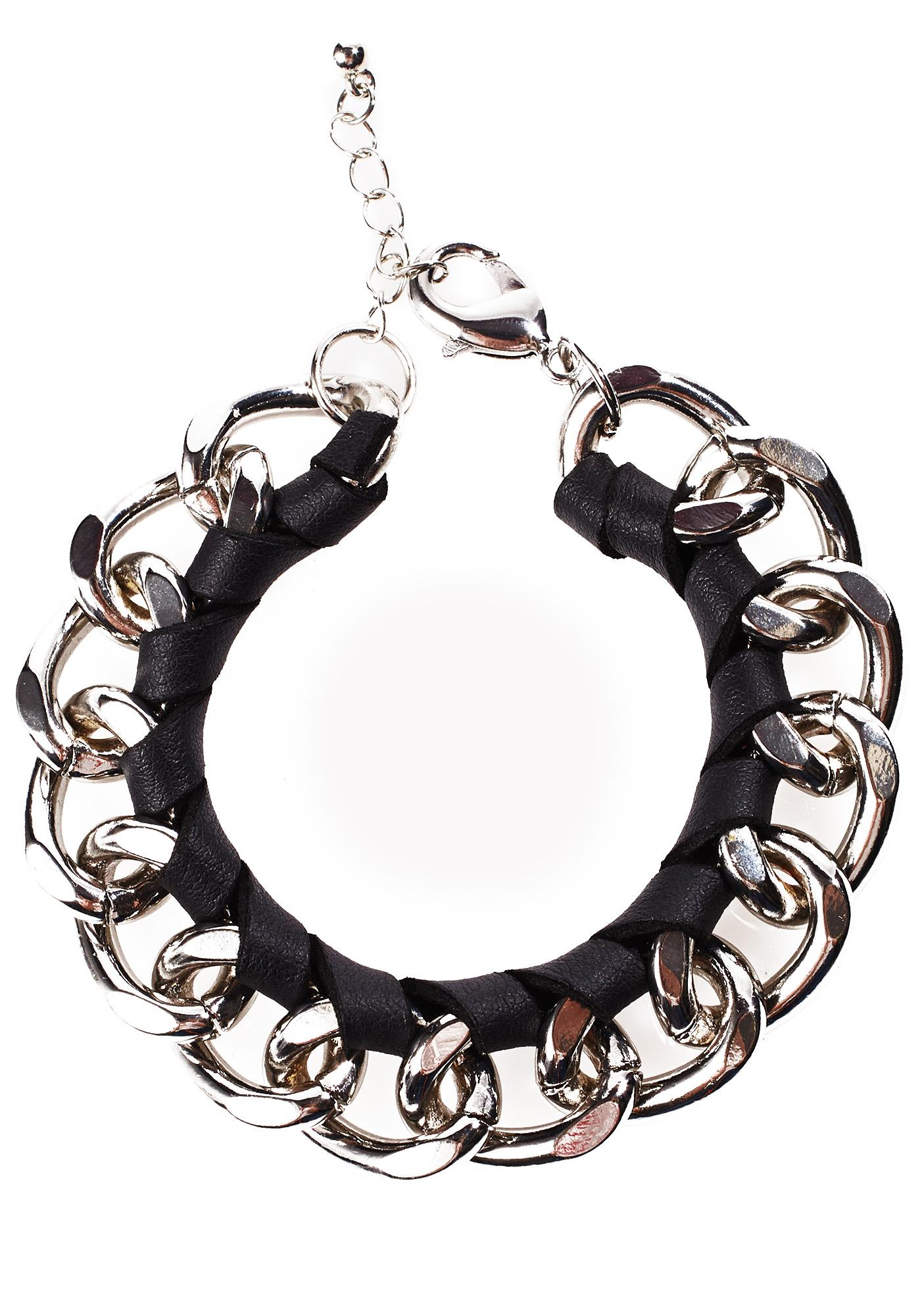 Curb Chained Bracelet