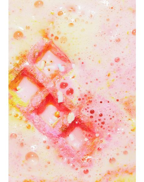 Cranberry Peach and Vanilla Waffle Sandwich Bath Bomb and Bubble Bar
