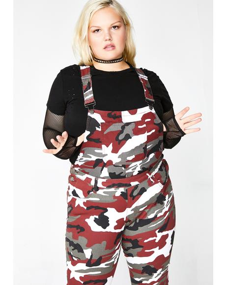 Lit Limitless Baddie Potential Camo Overalls