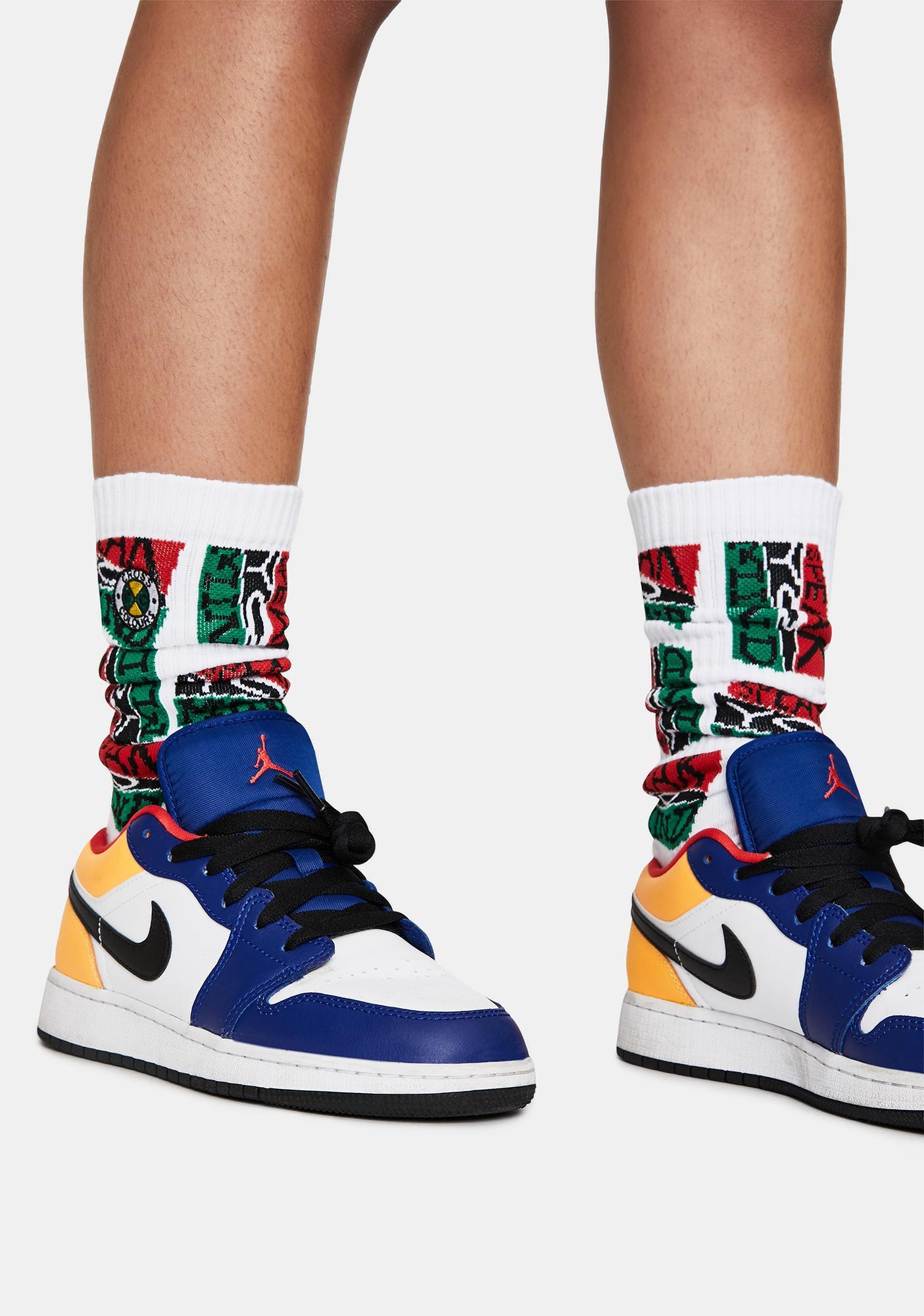 Cross Colours Speak Your Mind Crew Socks