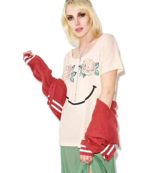 Wildfox Couture Happy Roses Goldie Eccentricity Tee