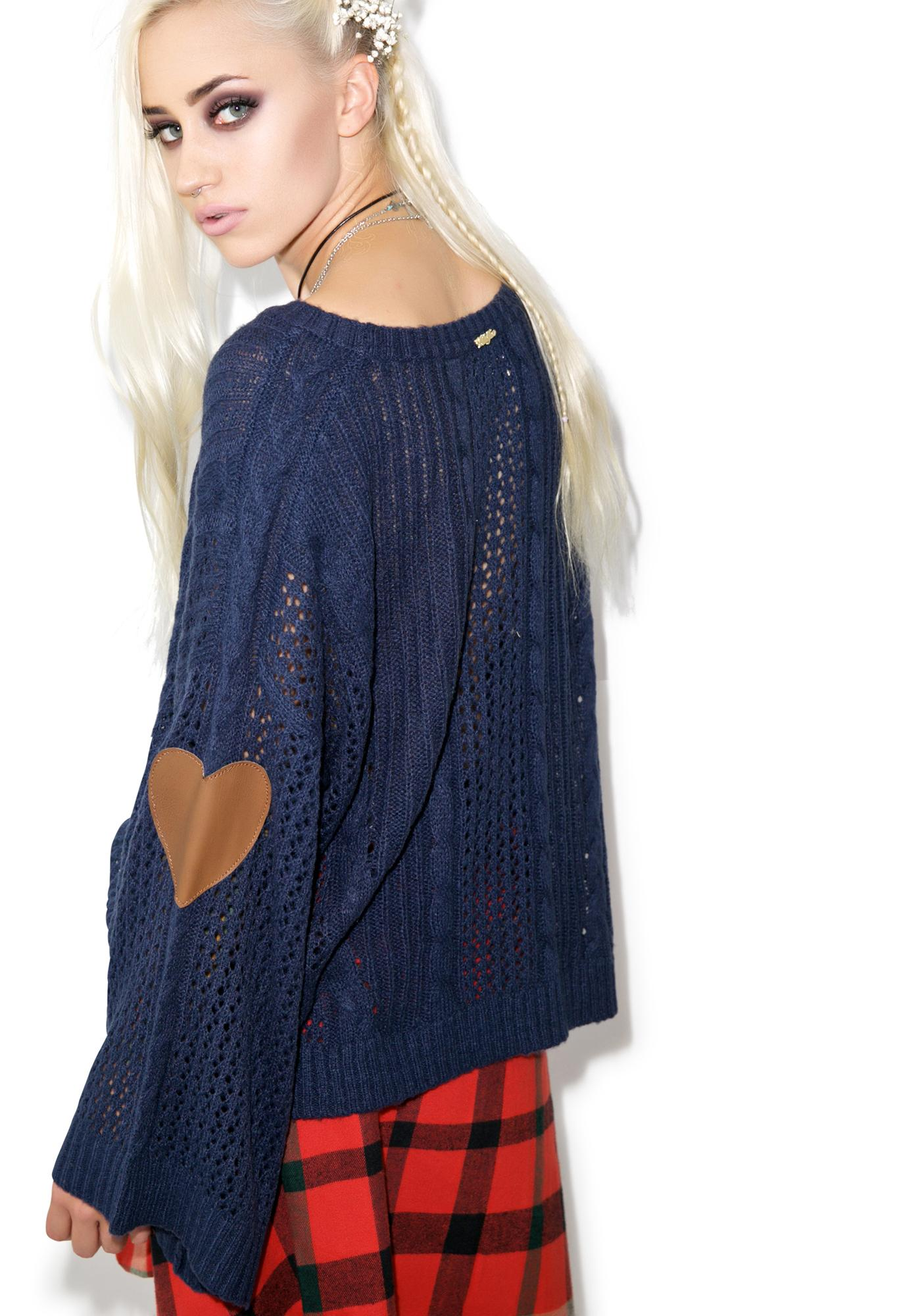 Wildfox Couture Wildfox Couture Covered In Lace Lost Sweater