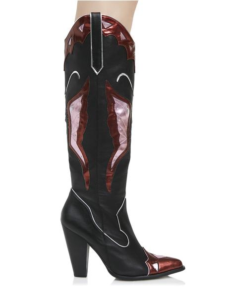 Painted Lady Cowboy Boots