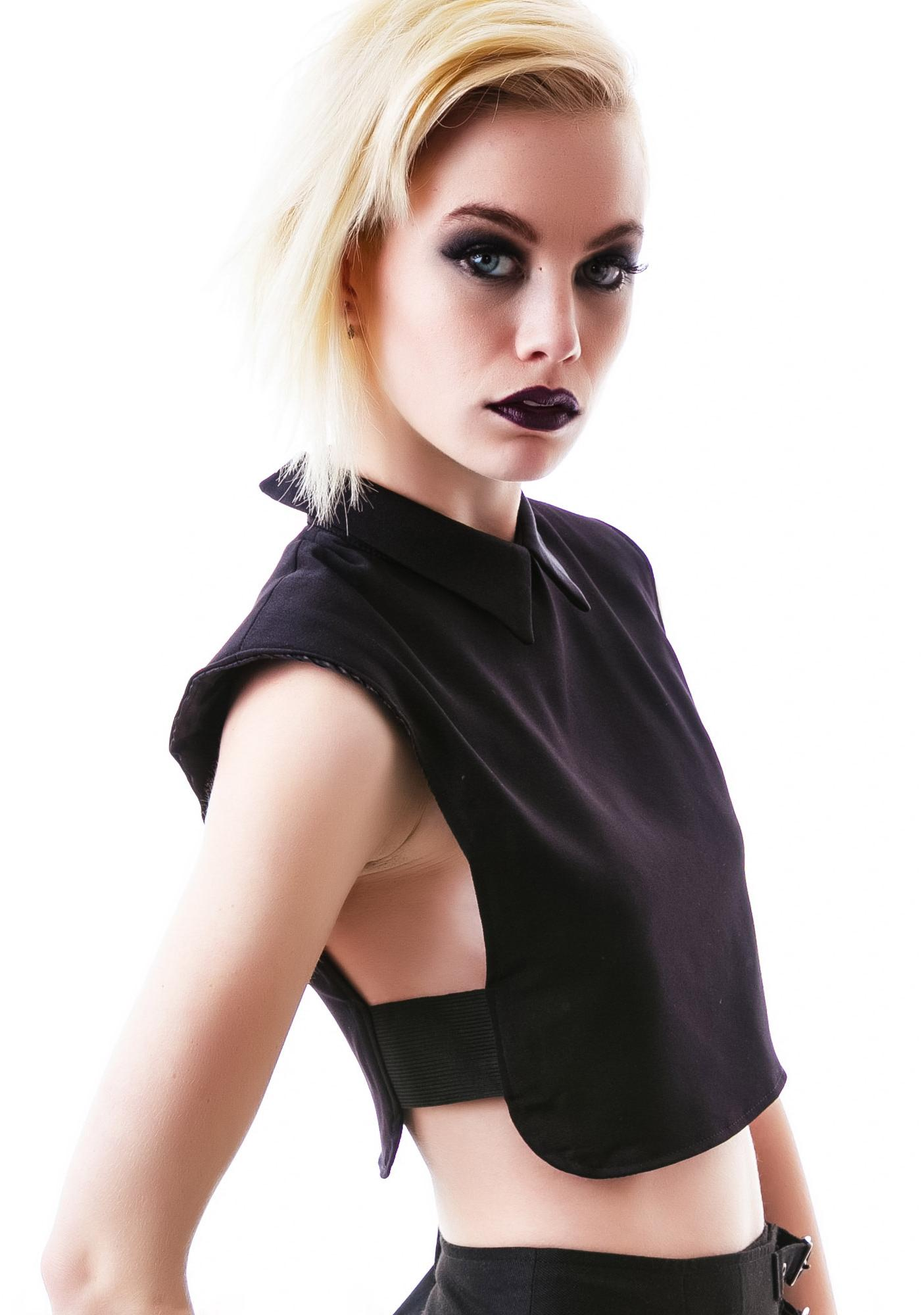 Sideshow Collared Crop Top