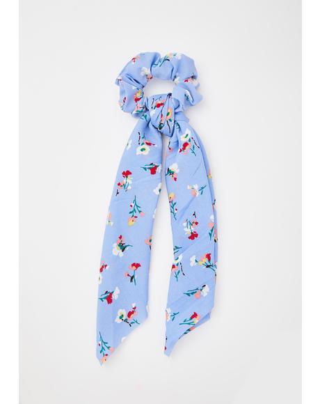 Sky Sweet Sundays Scrunchie Tie