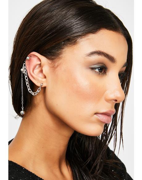 Wreckin' Babe Chain Ear Cuff