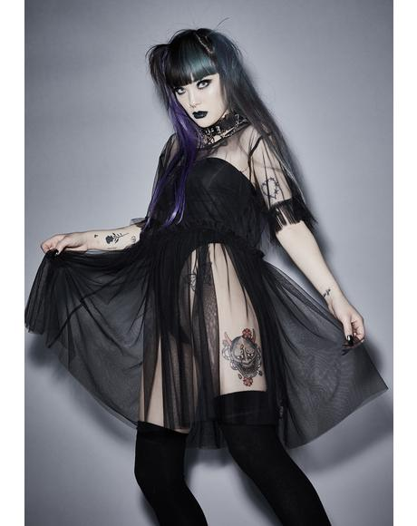 Shadow Lurker Sheer Dress
