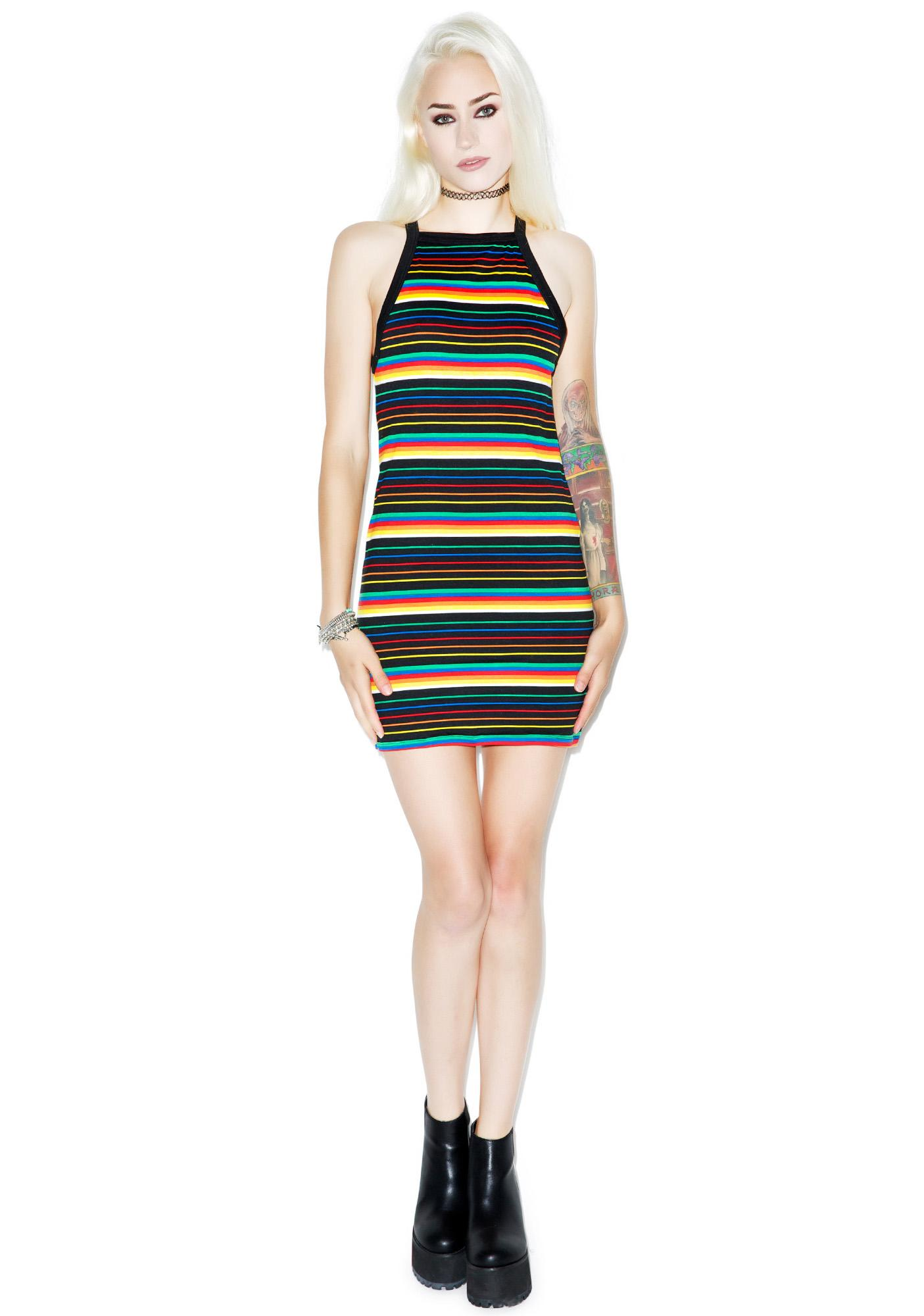 Motel Rainbow Bourne Dress
