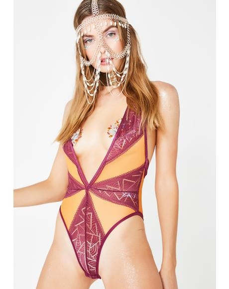 Desert Mirage Sheer Bodysuit