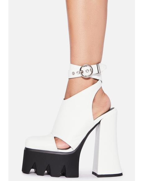 Pure Destined Disaster Wrap Heels