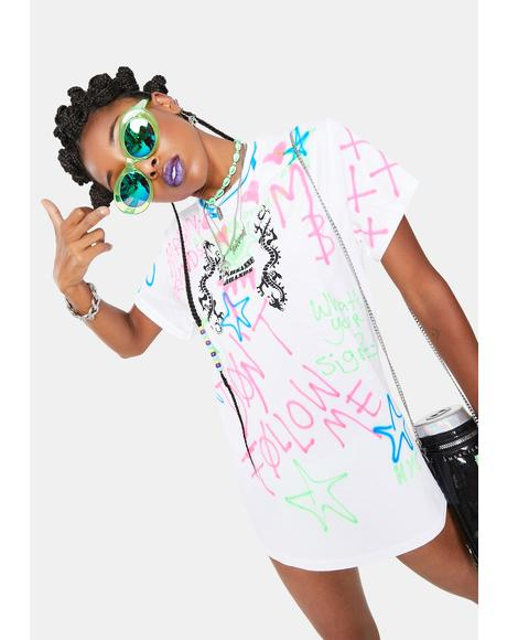 Neon Star Graphic Tee