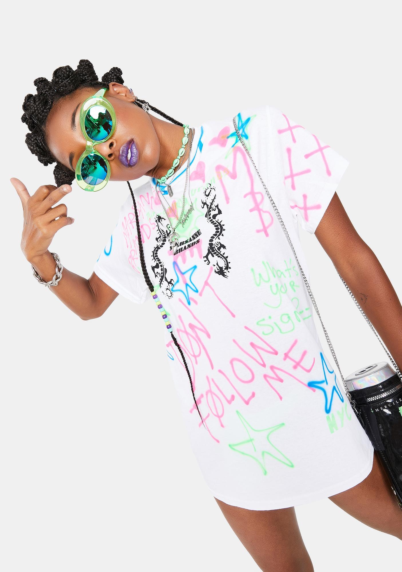Marsanne Brands Neon Star Graphic Tee